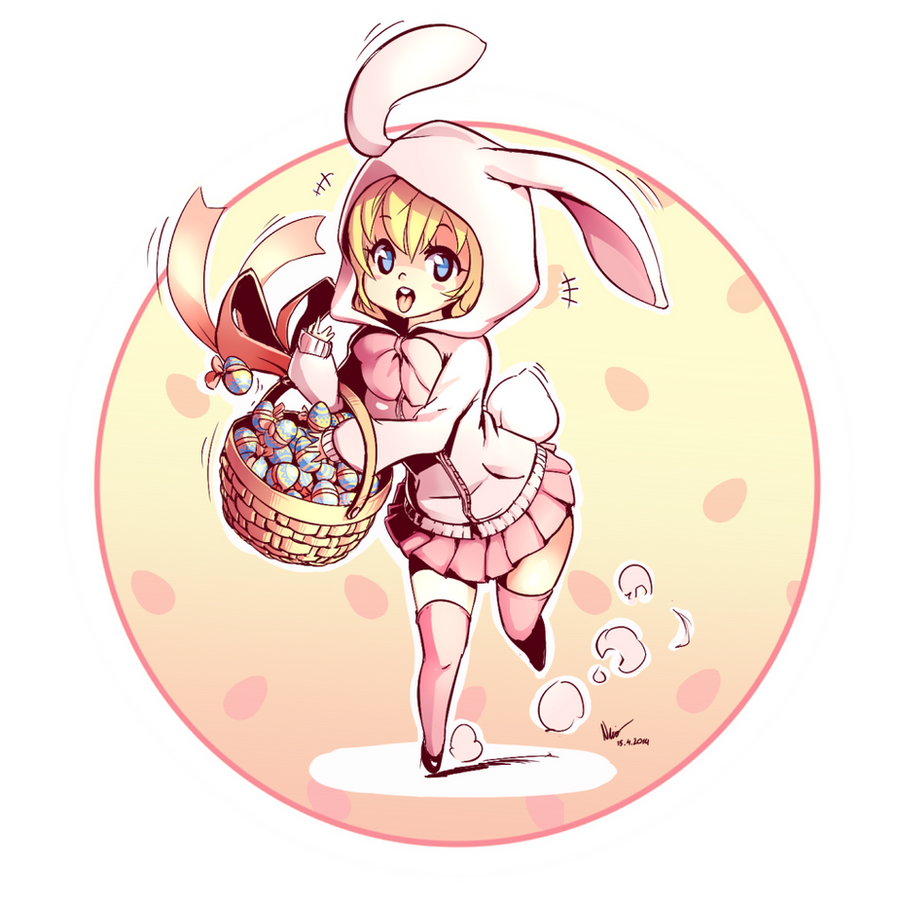 easter bunny by nsio on deviantart