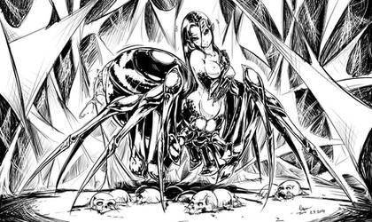 Luscia the Spider Girl by Nsio