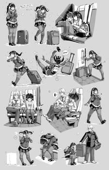 Nsio Pose Practice 7: Travelling Sayaka Tsuchimiya