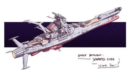 Space Battleship YAMATO 2199 rough sketch