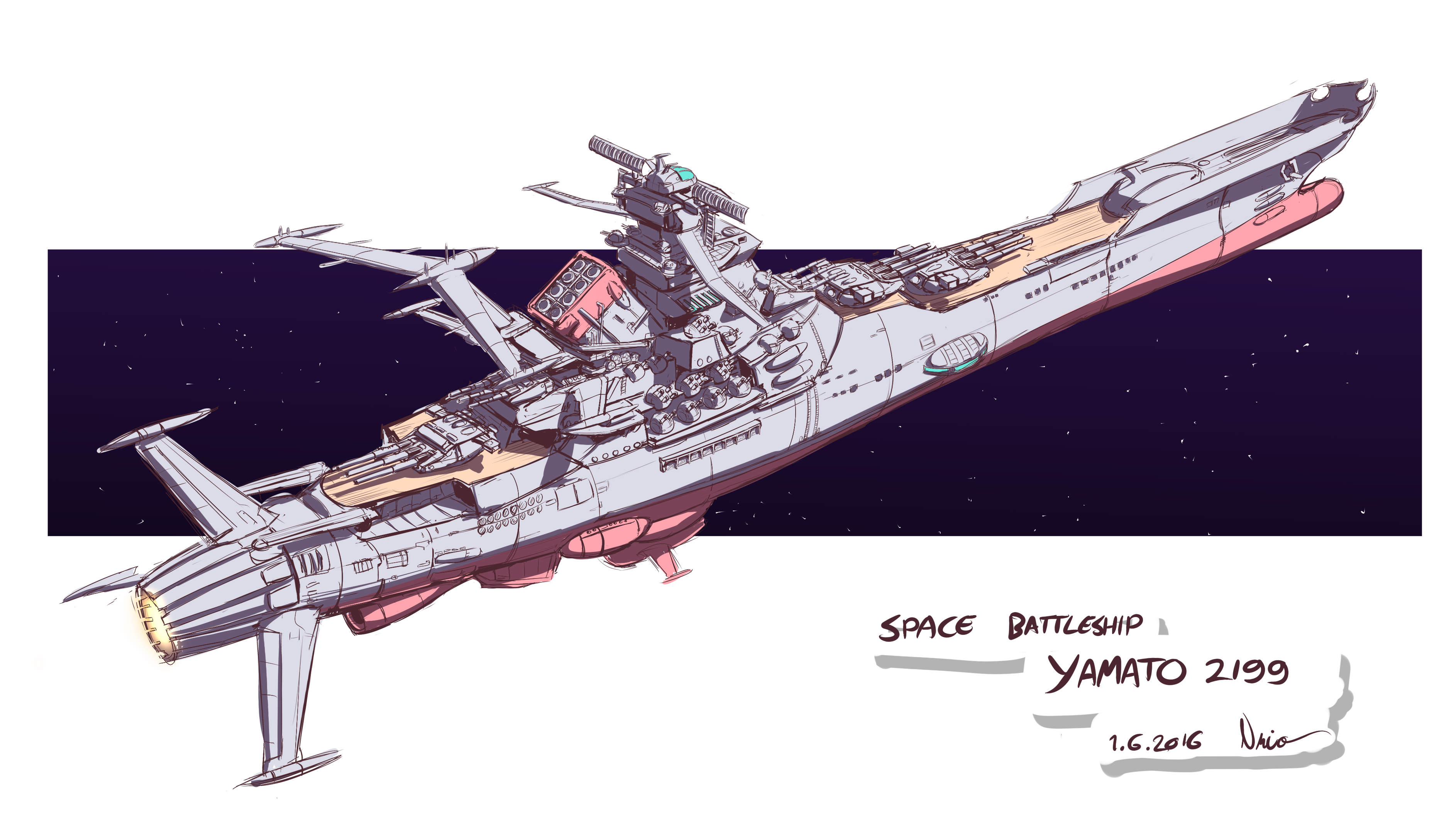 Space Battleship YAMATO 2199 rough sketch by Nsio on ...