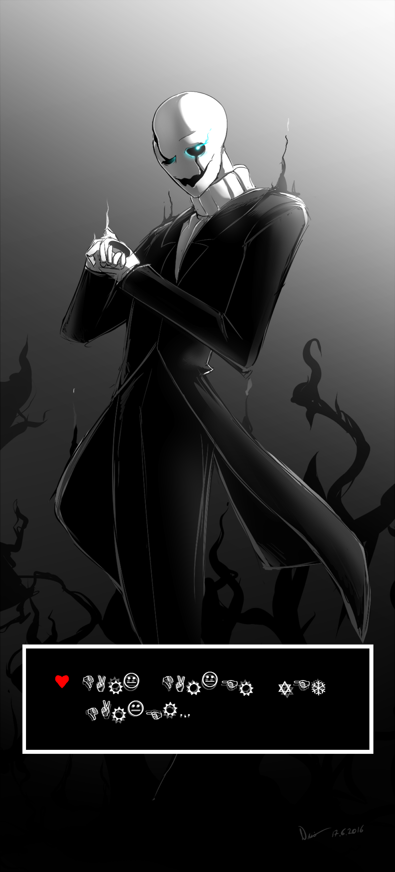 Undertale Wd Gaster By Nsio On Deviantart