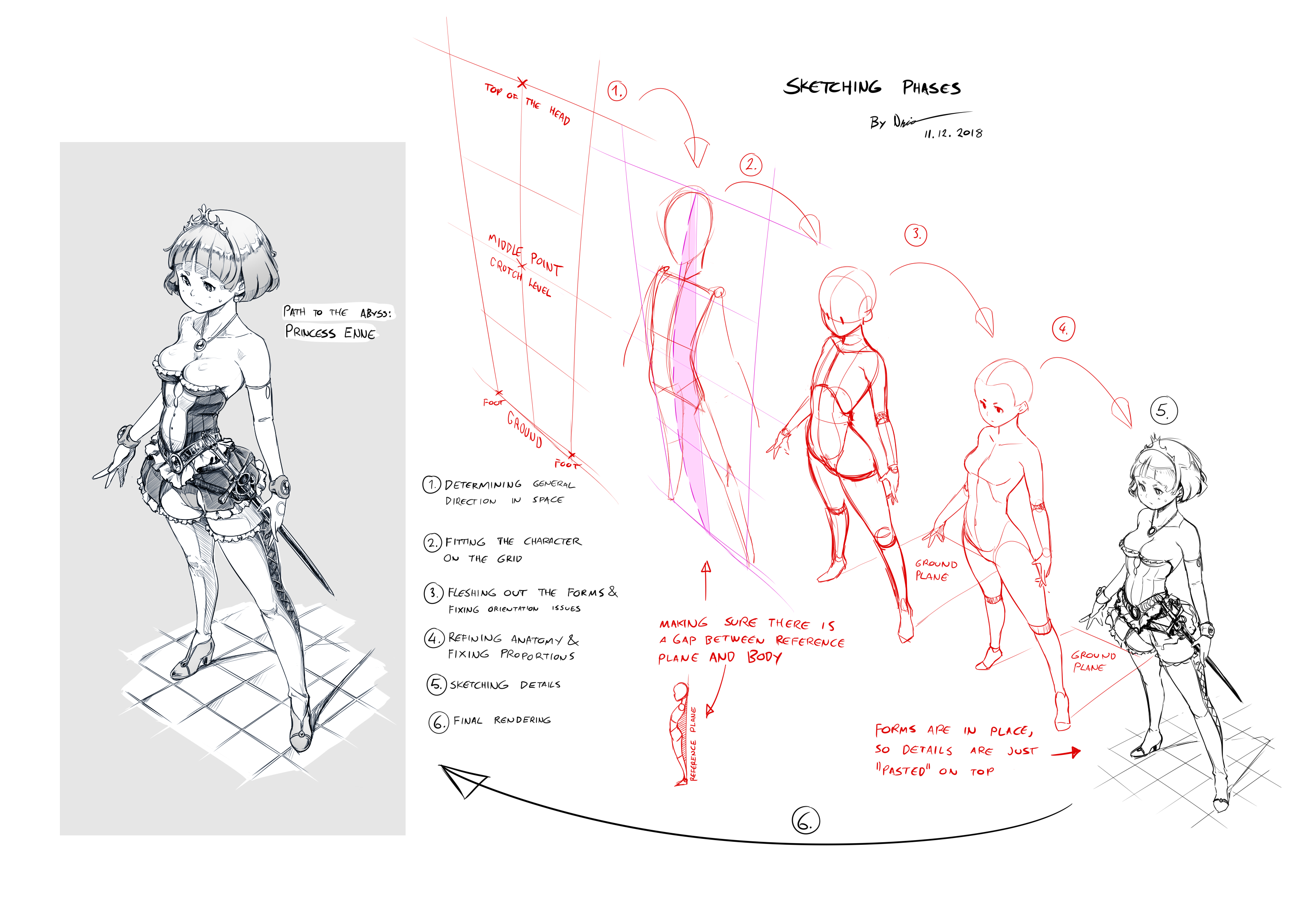 Sketching Phases: Princess Enne