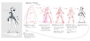 Sketching Phases2: Princess Enne (from below)