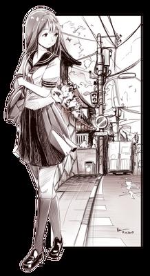 Nsio Inks: School Girl Sketch