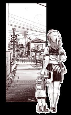 Nsio Inks: School Girl Sketch 2