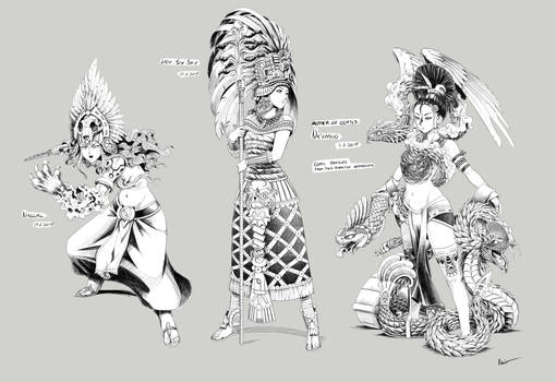 [Commission]Going Native: Character Designs