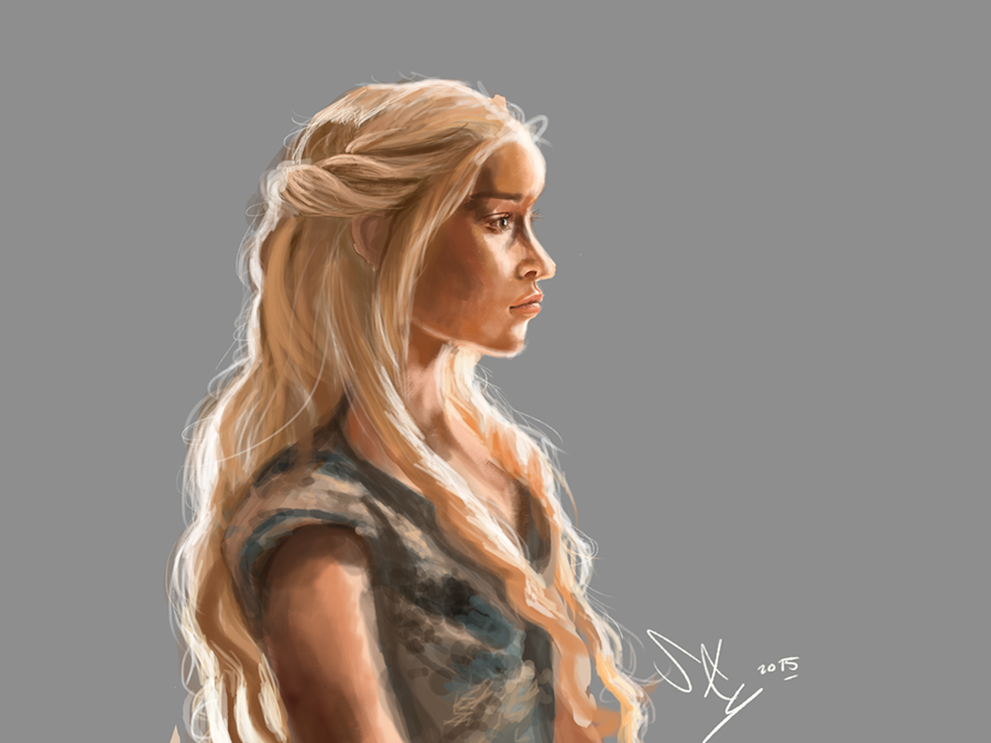 Daenerys - Lights and value study by Sky-of-ragnarok