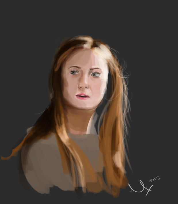 Sansa quick portrait by Sky-of-ragnarok