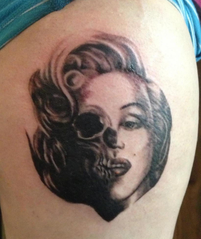 Marilyn monroe skull by cael113 on deviantart for Marilyn monroe skull tattoos