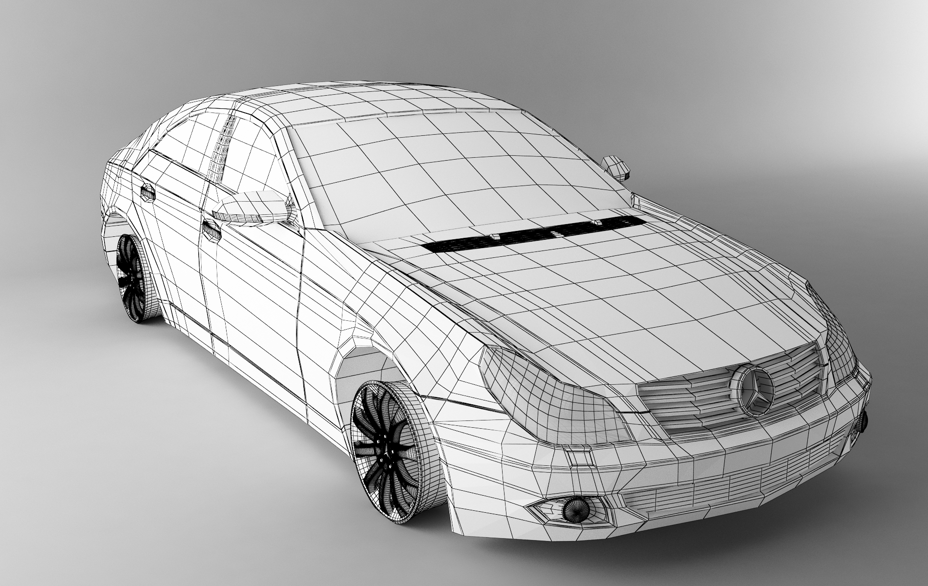 Line Drawing Render 3ds Max : Mercedes cls wireframe render by ctl d on deviantart