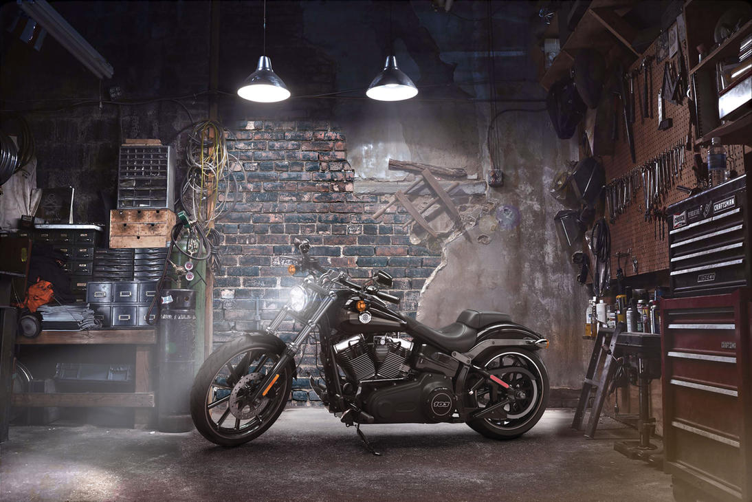 Harley davidson garage by ctl3d on DeviantArt