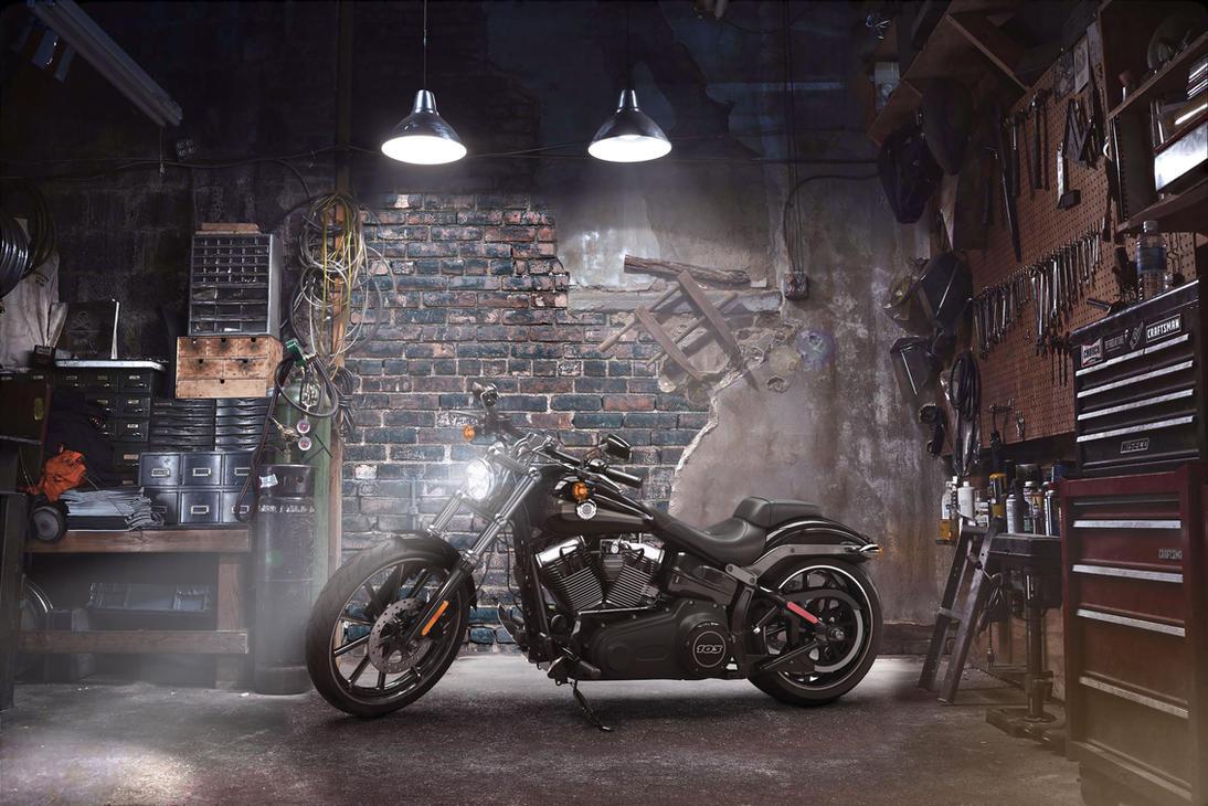 Harley davidson garage by ctl3d