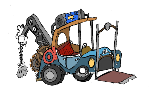 Forklift and Tow truck Hybrid