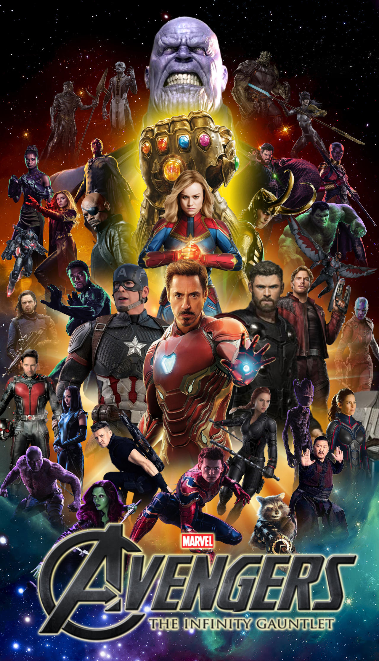 Avengers Infinity Gauntlet Saga Iphone Wallpaper By