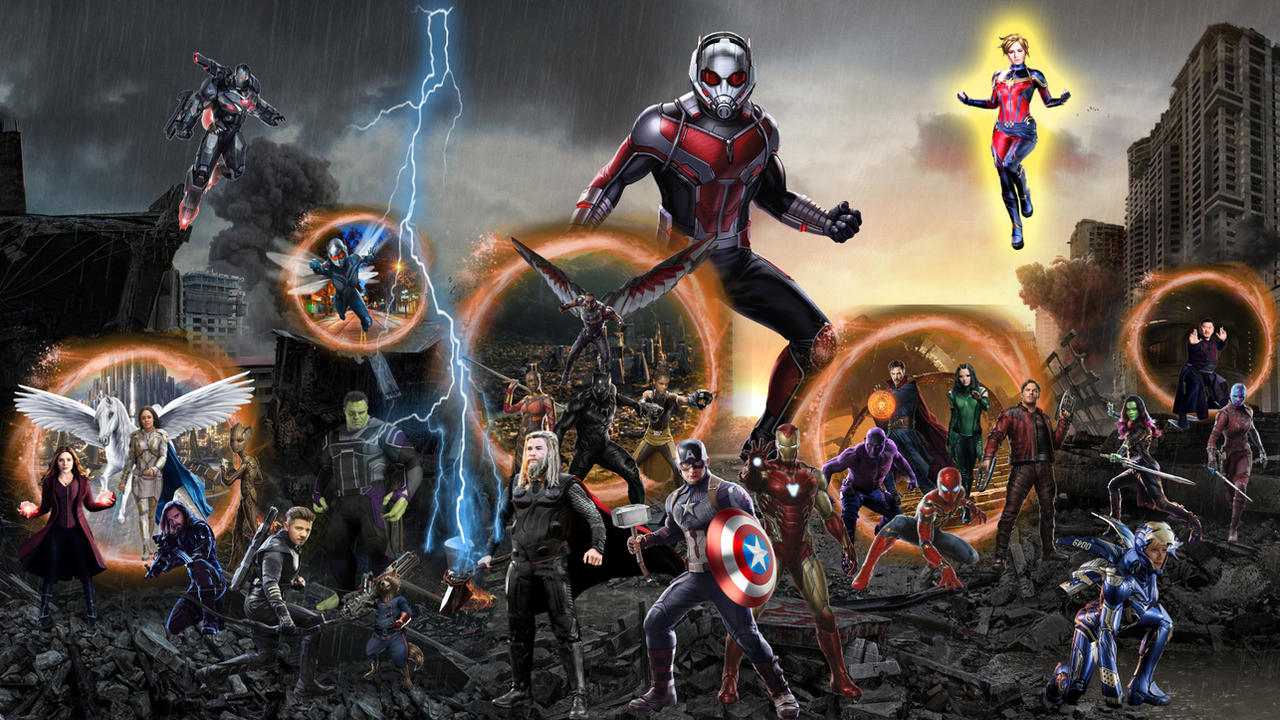 Avengers Assemble Endgame Portals Wallpaper Hd By Joshua121penalba