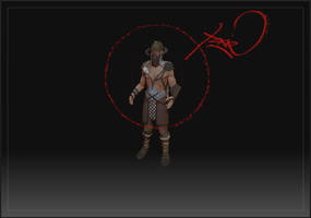 viking warrior wip by pixelchaot