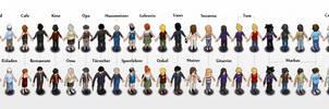 my boyfriend-character lineup by pixelchaot