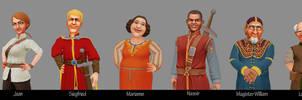 Catan Charakter-lineup