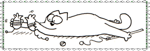 Simon's Cat Stamp 1 by Simons-Cat-Fanclub