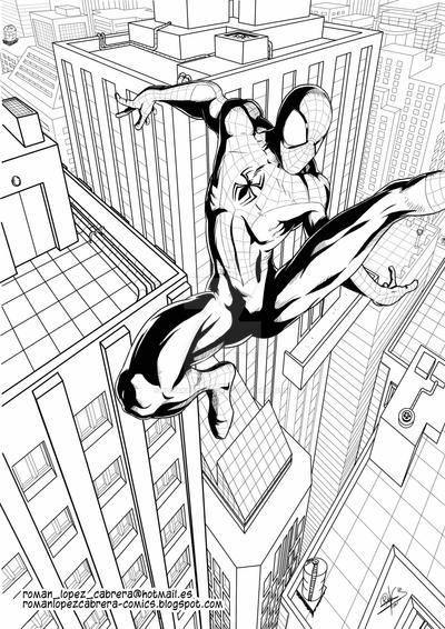 Spider-man by romanlopezcomic