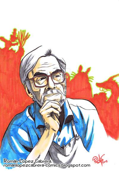 Hayao Miyazaki by romanlopezcomic