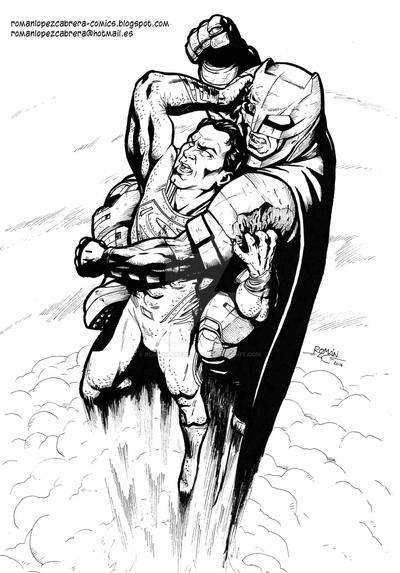 Batman V Superman by romanlopezcomic