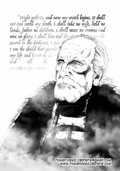 Lord Commander Jeor Mormont by romanlopezcomic