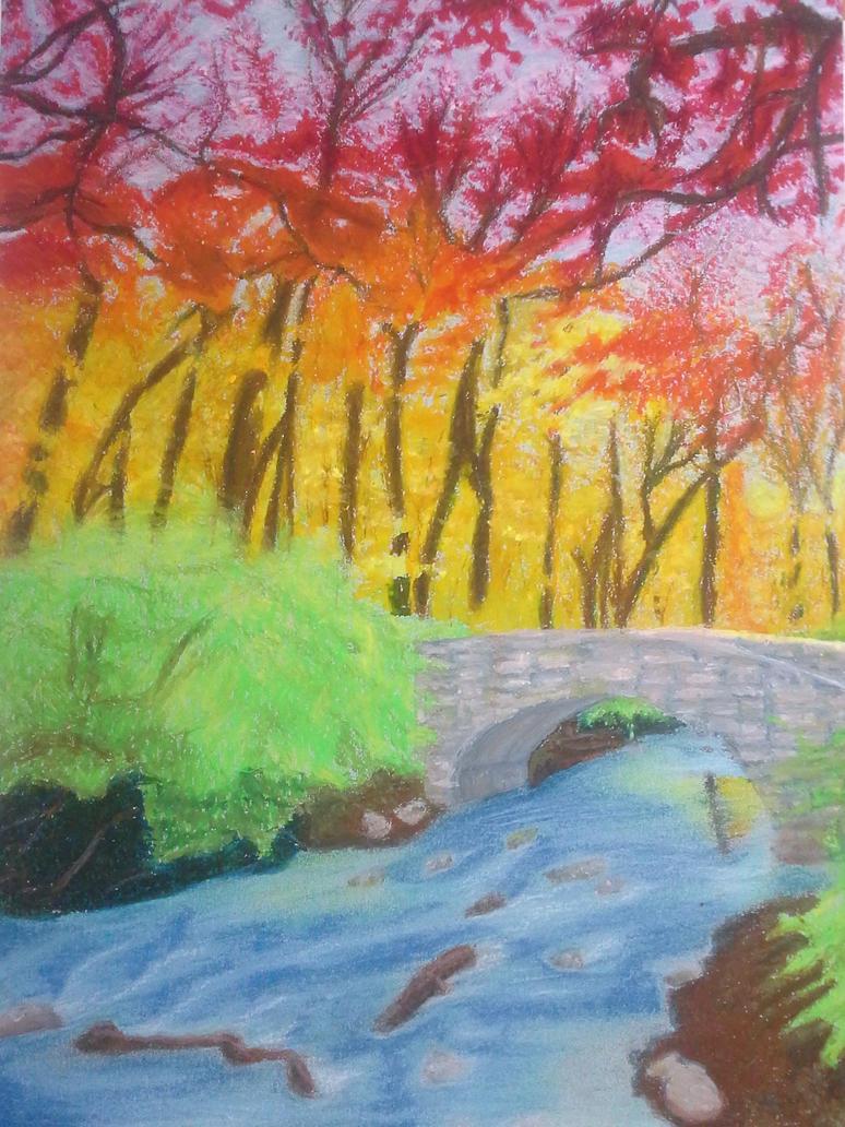 Oil Pastel Autumn Scenery by AlternativeRocker on DeviantArt