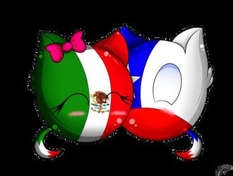 [Kawaii Balls] Mexico and Chile by BlackHeart-34