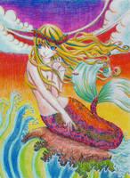 mermaid by curlymobb