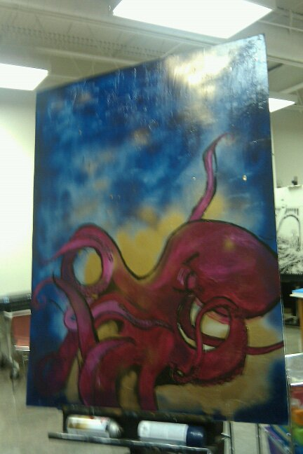 Giant Octopus by SarArt16