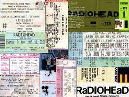 RadioHead Tickets by CalaStudios