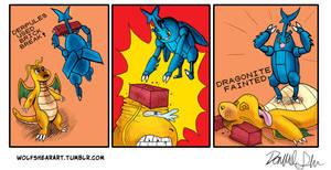 Derpules Brick Breaks a Dragonite