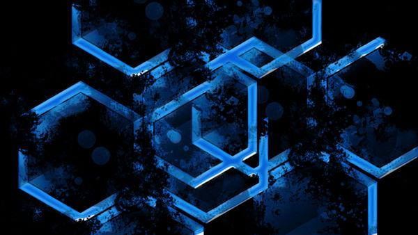 Blue 'n Black Background by leeoxleeo