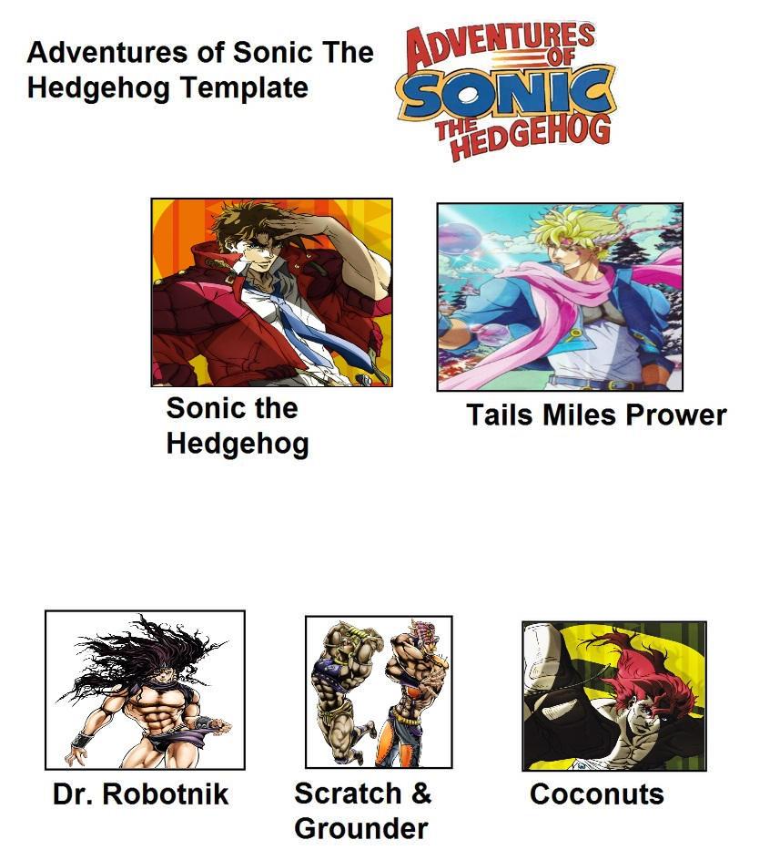 Adventures Of Sonic The Hedgehog But Its Jojo By Meikotheshinyturtwig On Deviantart