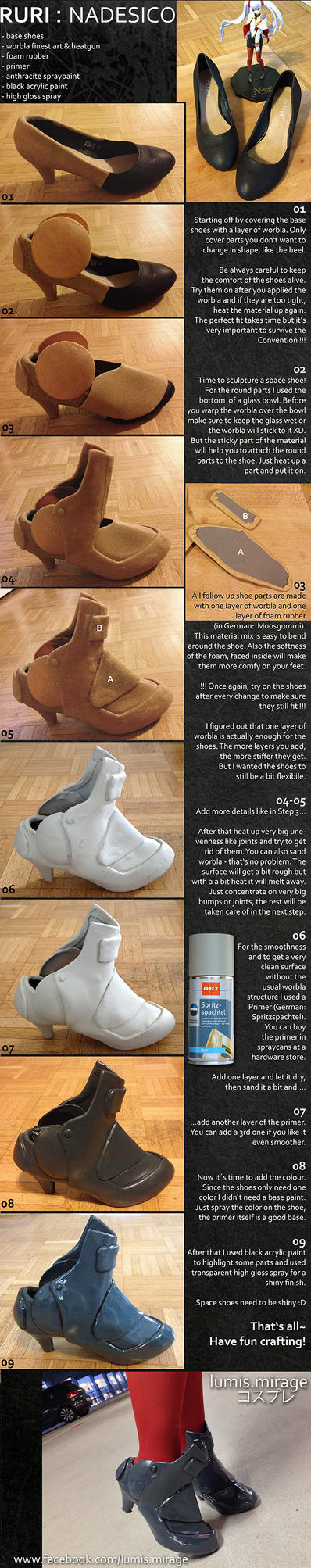 Tutorial : Shoes with Worbla by Lumis-Mirage