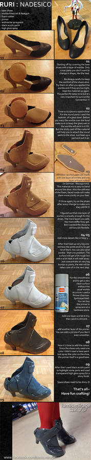 Tutorial : Shoes with Worbla