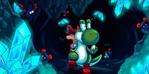 Yoshi's Island - The very loooooong cave!