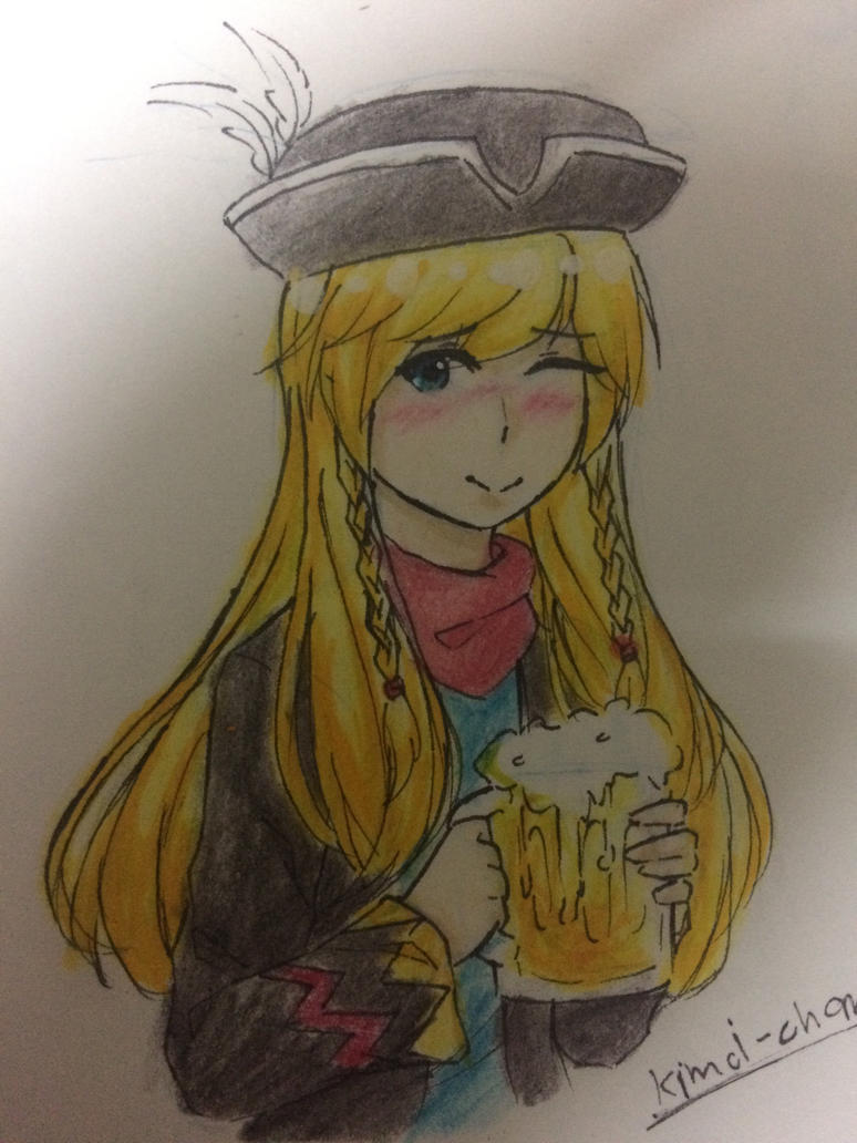 EBF fanart : Just drunk by Kimoichan