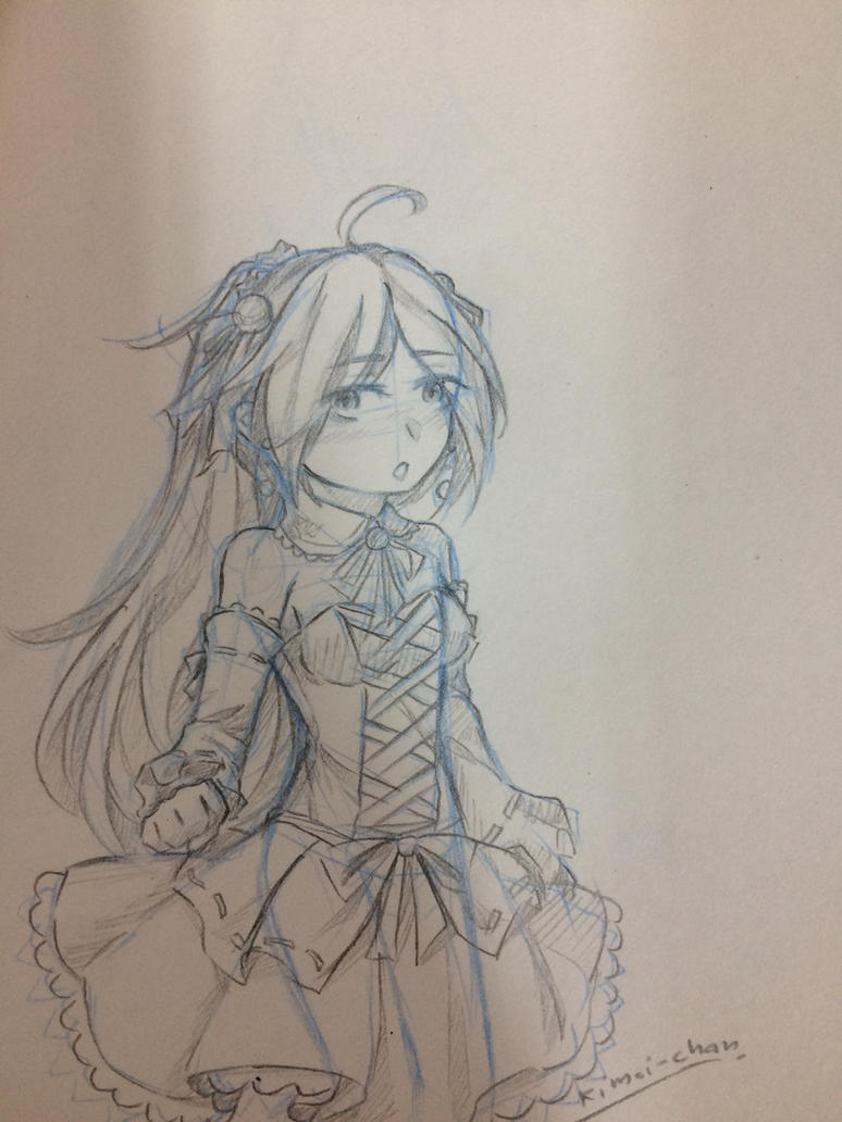[sketch] Natalie in lolita dress by Kimoichan