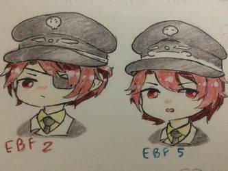 [EBF] EBF2 vs EBF5 (Chibi style) by Kimoichan
