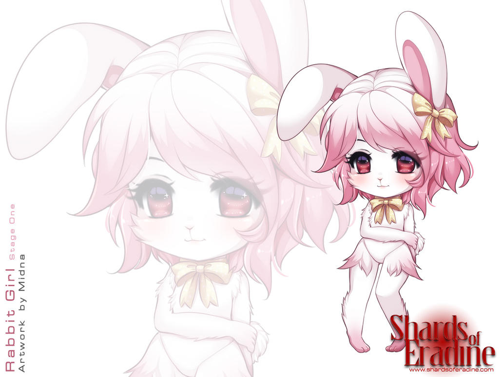 Rabbit Girl Stage One Colour by delmorpha