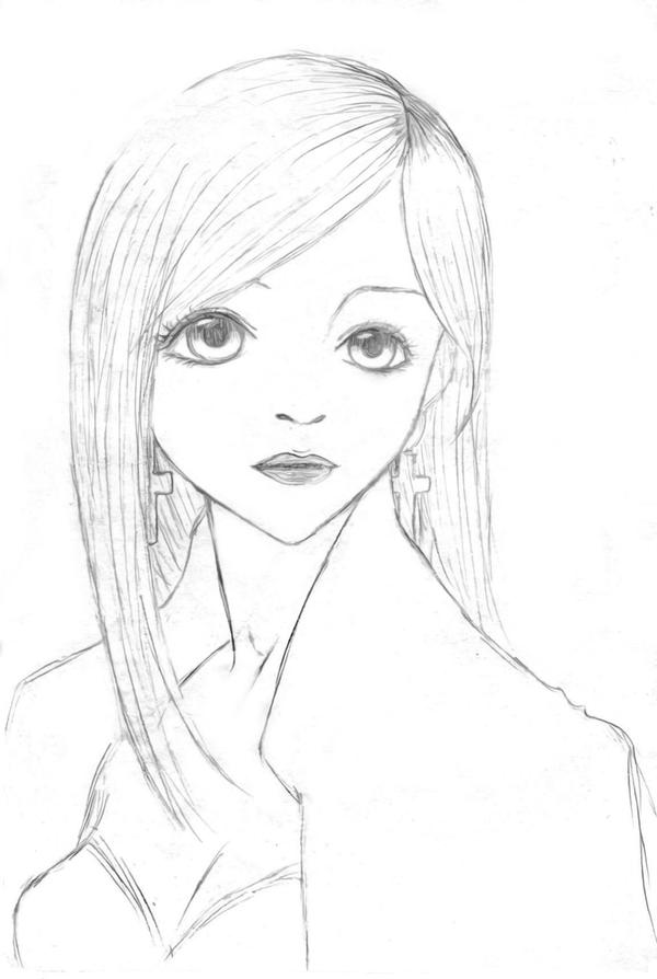 Doll pencil sketch by 13 year old