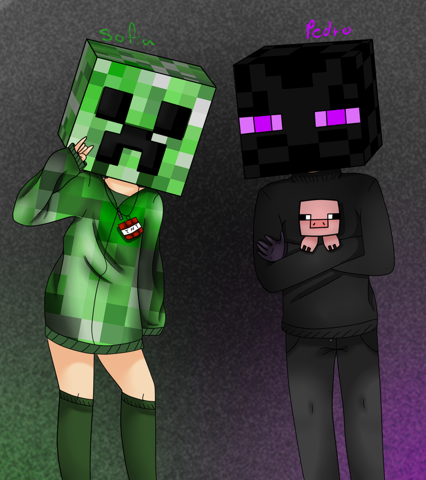 Creeper and enderman by exilia2417 on deviantart