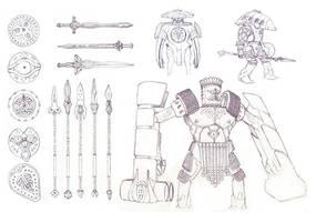 Mesopotamian Warrior - Sketch by PHATandy