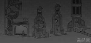 Batman Arkham Origins: RobotArmy MoreMachinellania by PHATandy