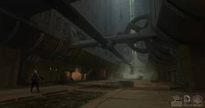 Batman Arkham Origins: RobotArmy RoboCanyon by PHATandy
