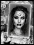 Angelina as Goth by artmatrix