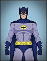 Batman '66 - Adam West tribute by DraganD